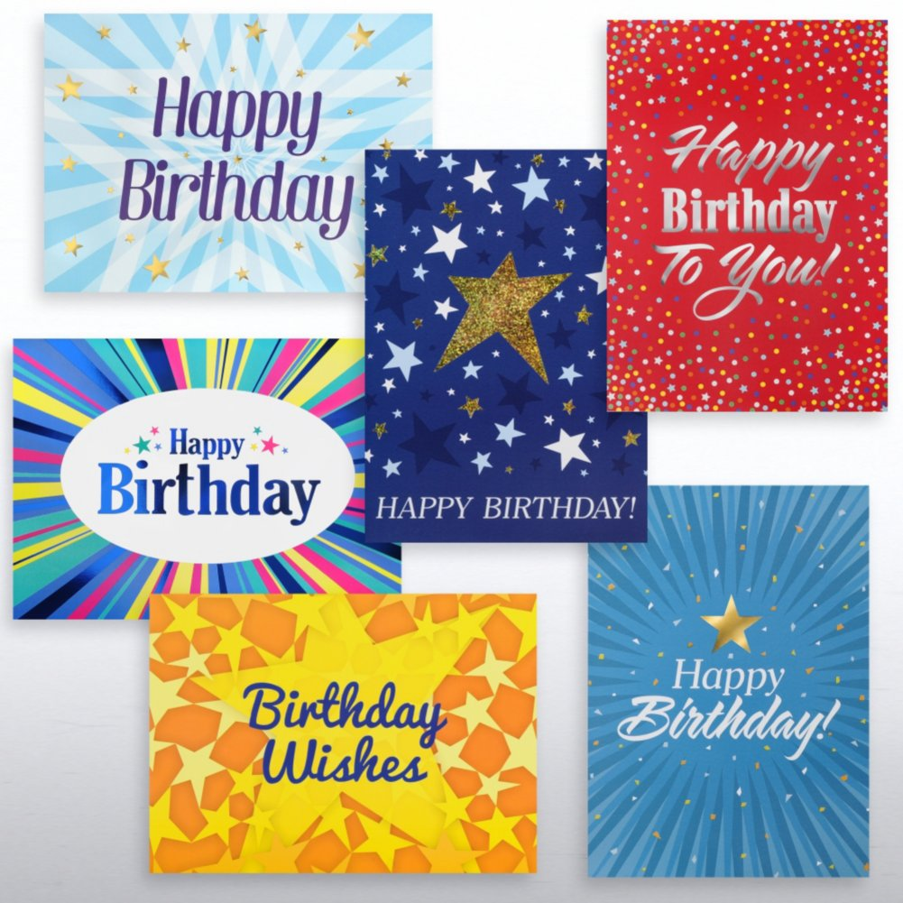 View larger image of Classic Celebrations - Happy Birthday Stars Assortment
