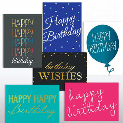 Classic Celebrations Deluxe Foil Birthday Assortment