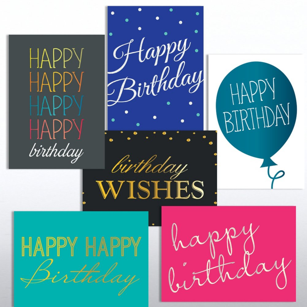 View larger image of Classic Celebrations Deluxe Foil Birthday Assortment