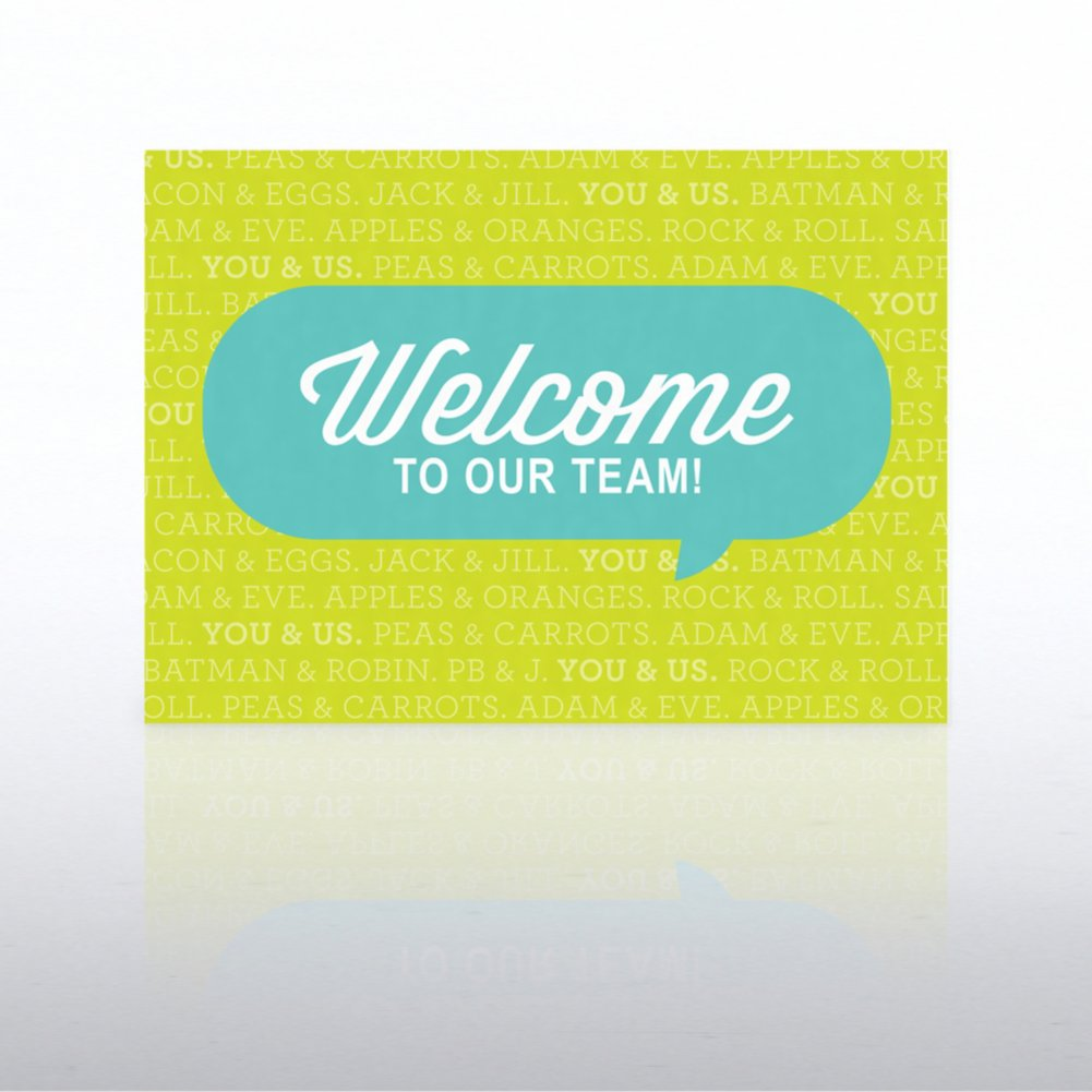 View larger image of Onboarding - Greeting Card - Welcome Quote Bubble