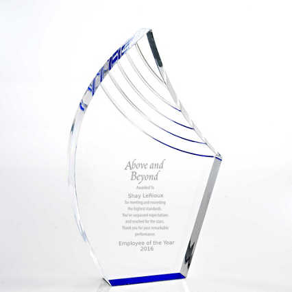 Blue Reflection Acrylic Award - Peak