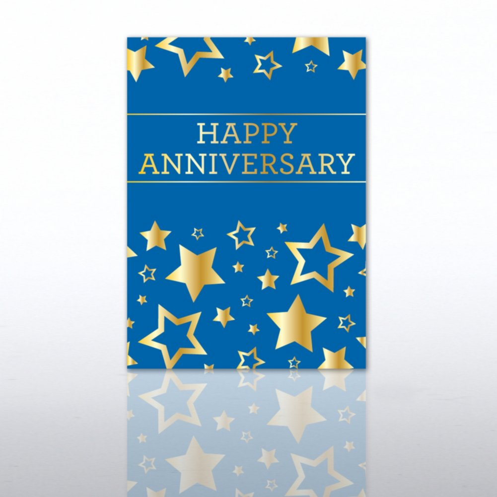 Classic Celebrations - Happy Anniversary - Gold Stars