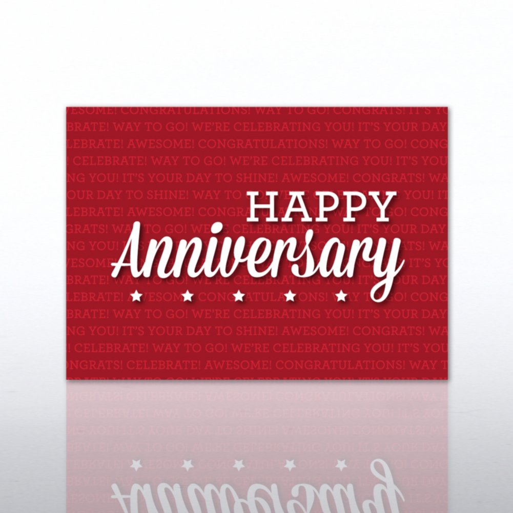 View larger image of Classic Celebrations - Happy Anniversary Red Words