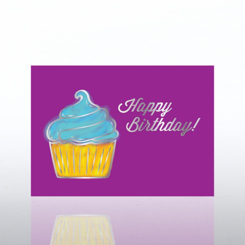 View larger image of Classic Celebrations - Birthday Watercolor-Birthday Cupcake