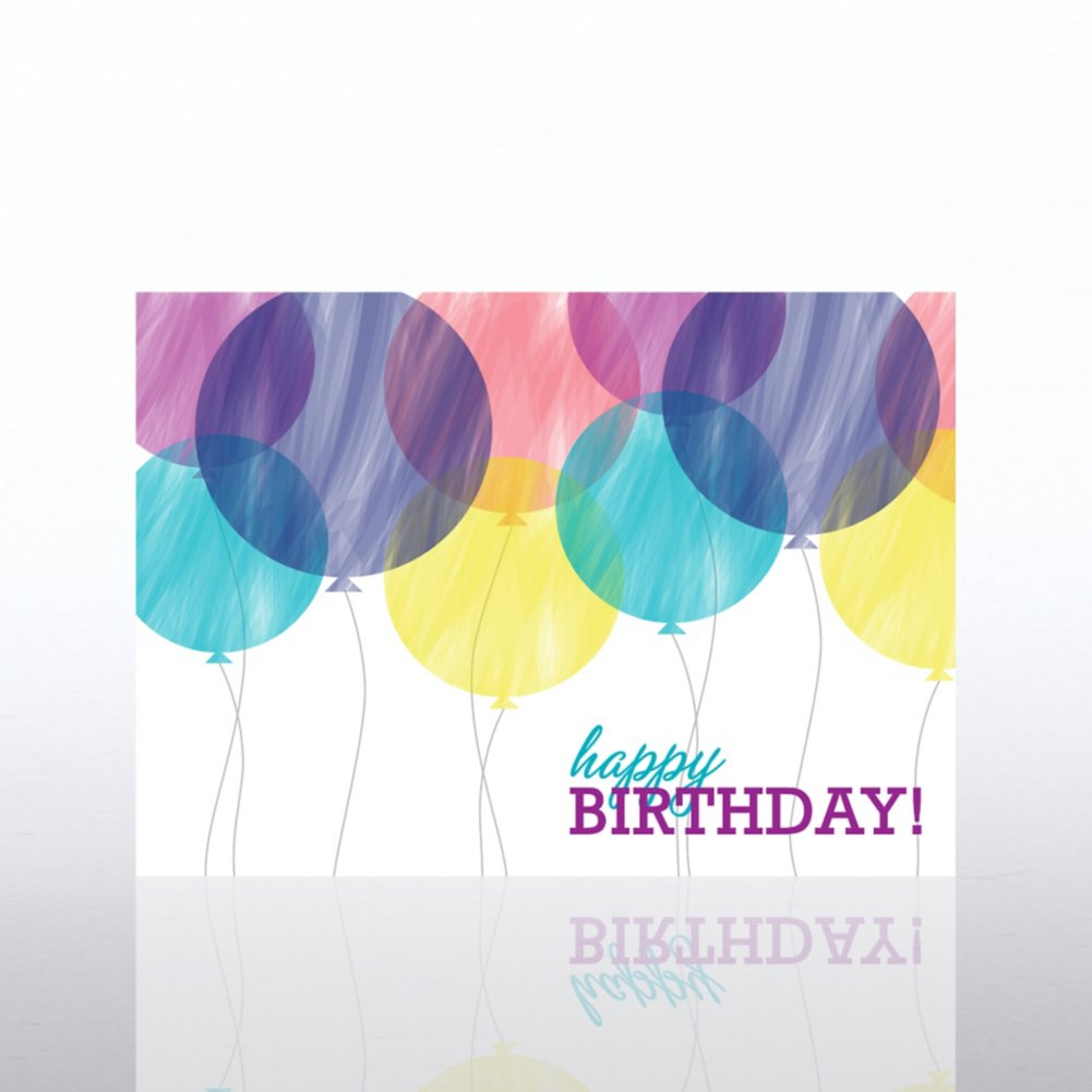 View larger image of Classic Celebrations -Birthday Watercolors- Bithday Balloons