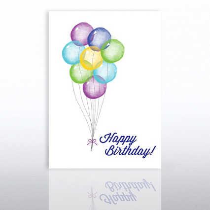 Classic Celebrations - Birthday Watercolor - Balloon Bunch