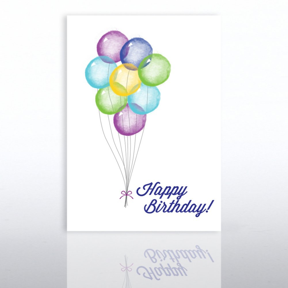 View larger image of Classic Celebrations - Birthday Watercolor - Balloon Bunch