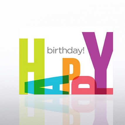 Classic Celebrations Birthday Card - Happy Birthday