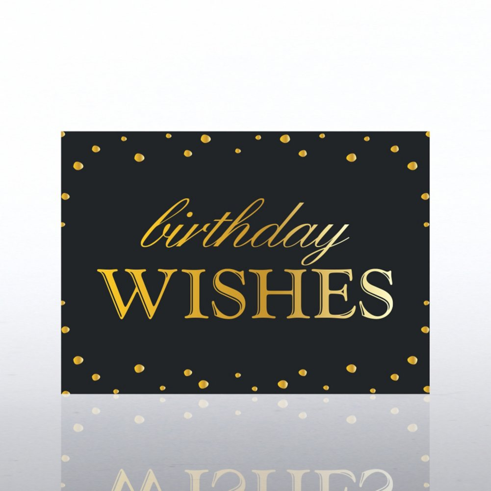 View larger image of Classic Celebrations - Deluxe Foil Birthday- Birthday Wishes