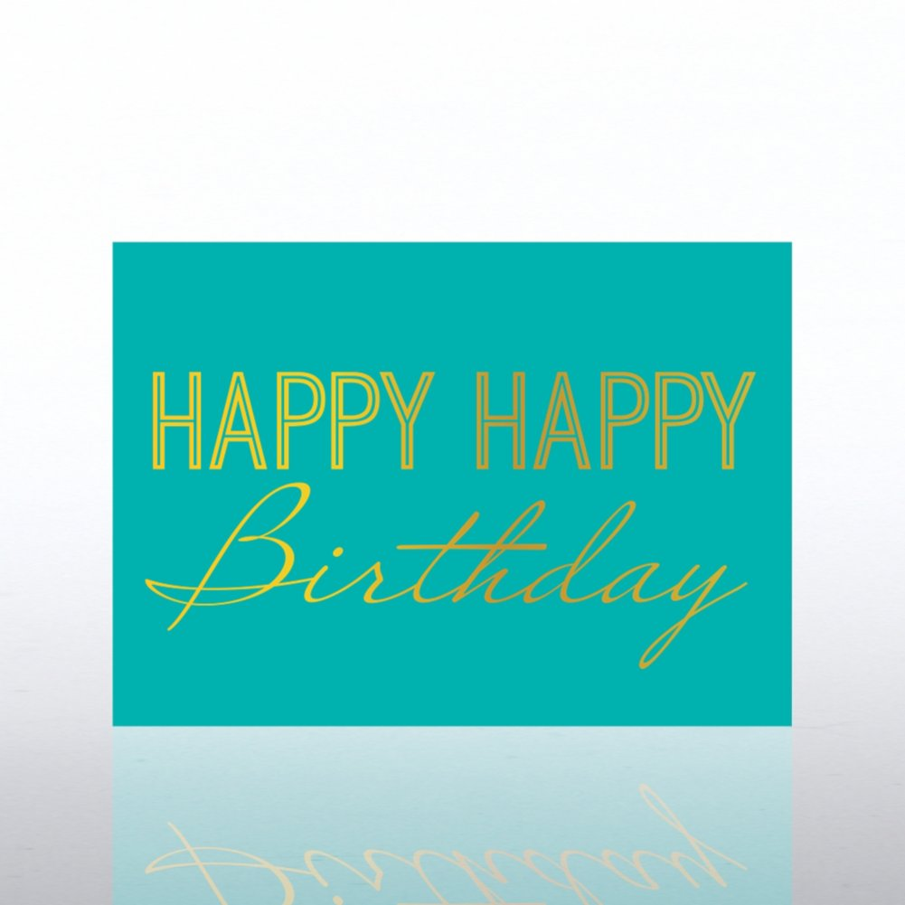 View larger image of Classic Celebrations - Deluxe Foil Birthday - Happy Birthday