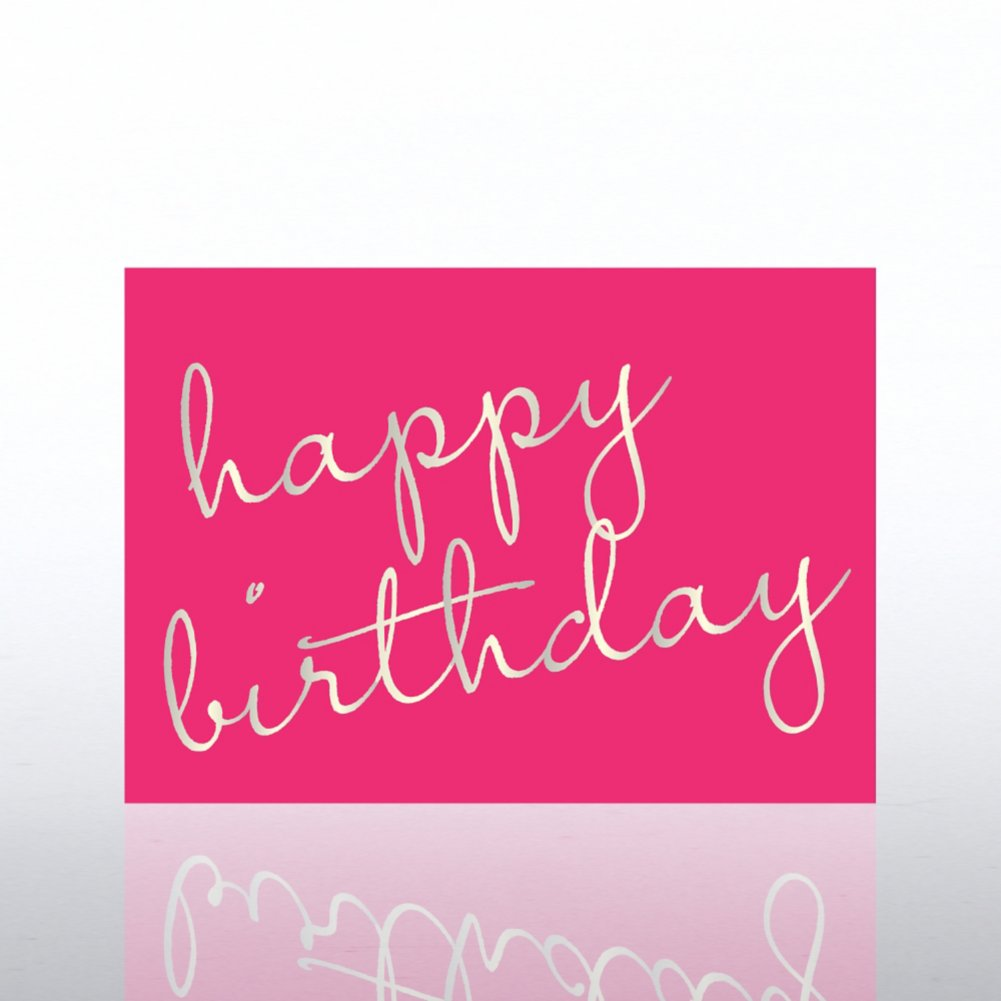 View larger image of Classic Celebrations - Deluxe Foil Birthday- Birthday Script