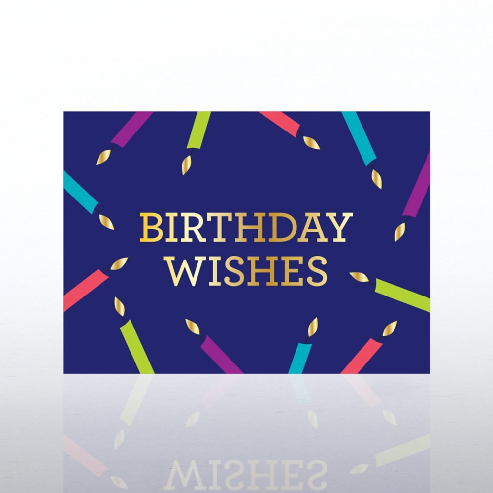 View larger image of Classic Celebrations Card - Candles: Birthday Wishes