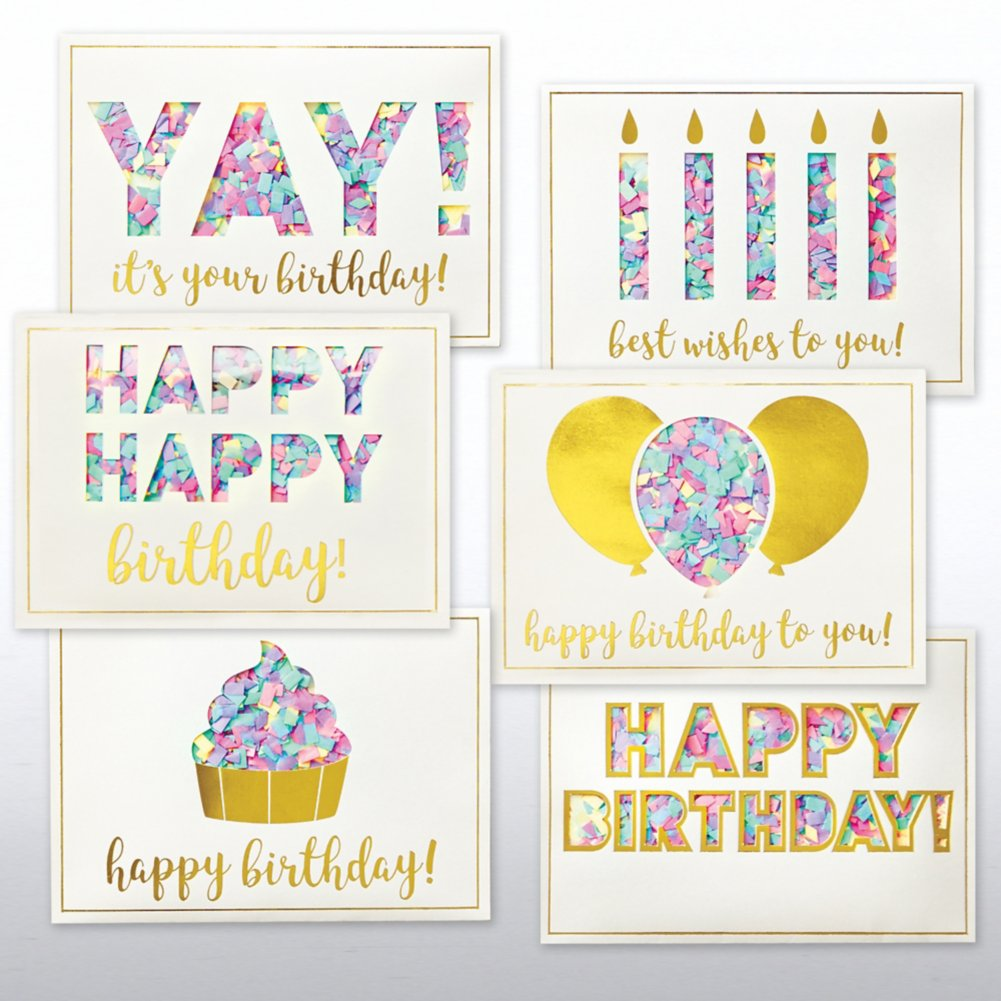 View larger image of Classic Celebrations - Confetti Birthday Cheer Assortment