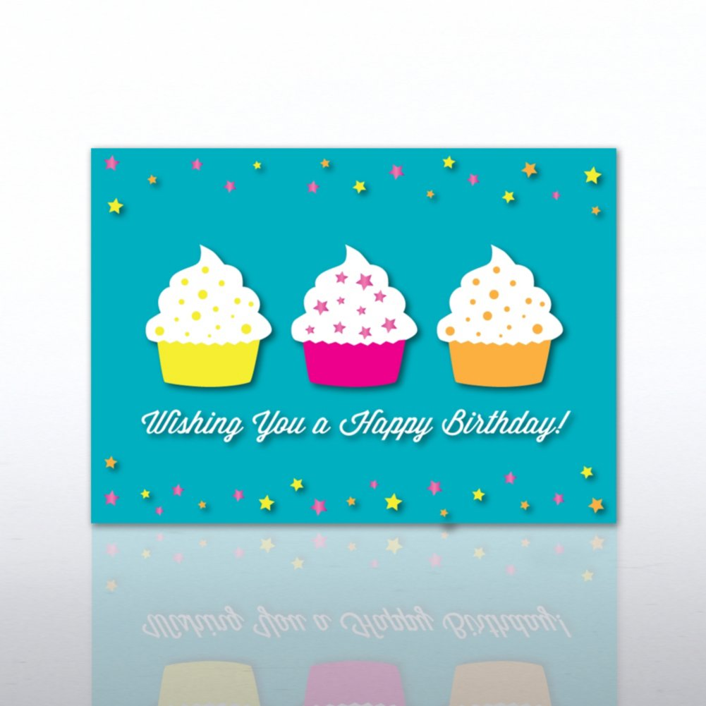 View larger image of Classic Celebrations - Wishing you a Happy Birthday-Cupcakes