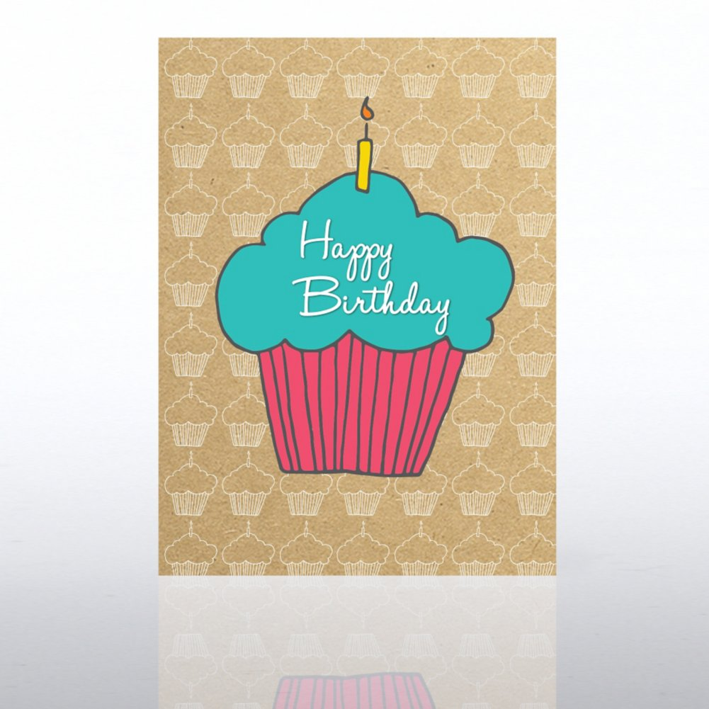 View larger image of Classic Celebrations Card - Happy Birthday Cupcake
