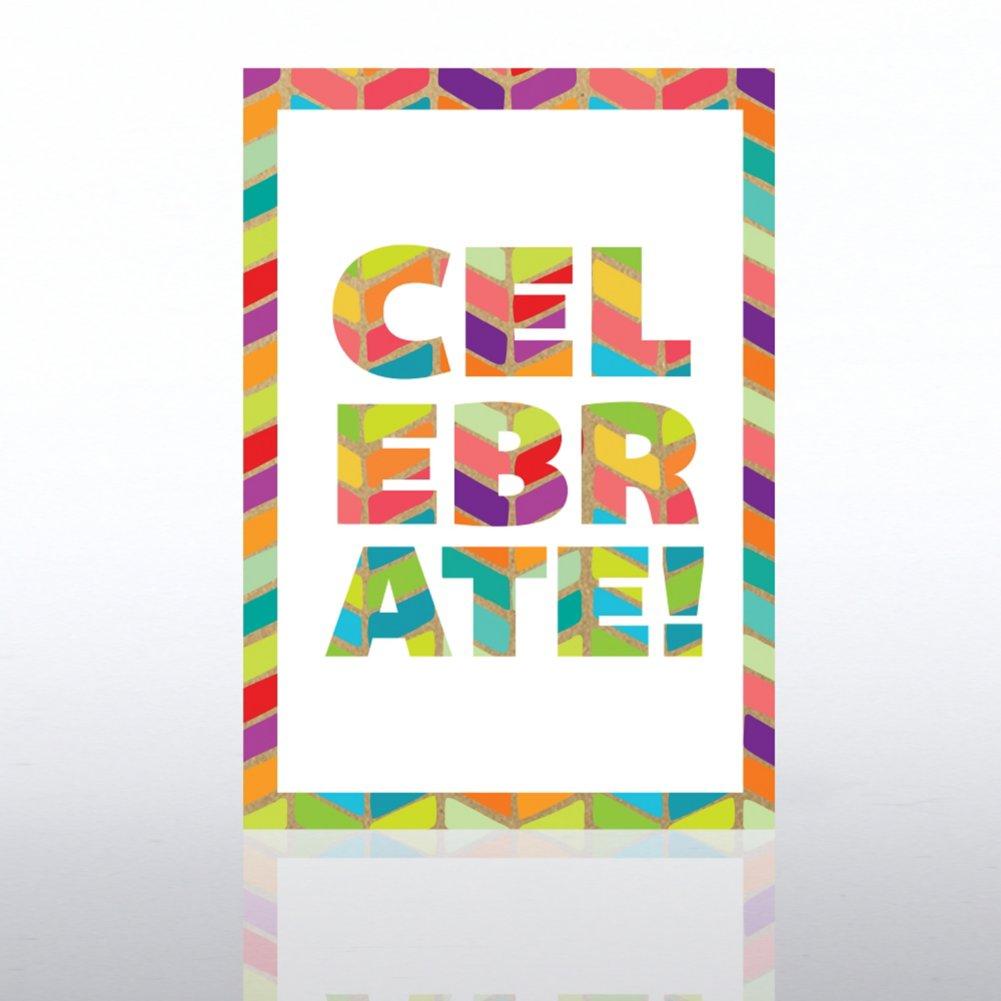 Classic Celebrations Birthday Card - Chevron Celebrate
