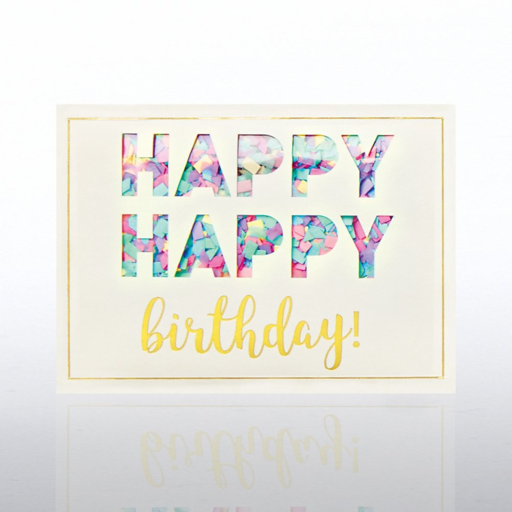 View larger image of Classic Celebrations- Confetti Cheer - Happy Happy Birthday!