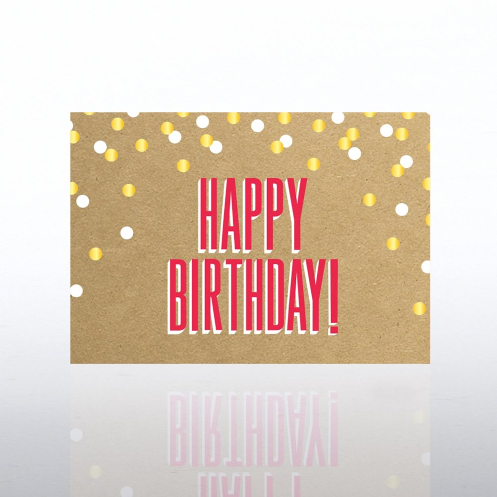 View larger image of Classic Celebrations Card - Happy Birthday Confetti