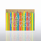 View larger image of Classic Celebrations Card - Candles: Happy Birthday to You!