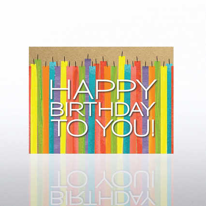 Classic Celebrations Card - Candles: Happy Birthday to You!