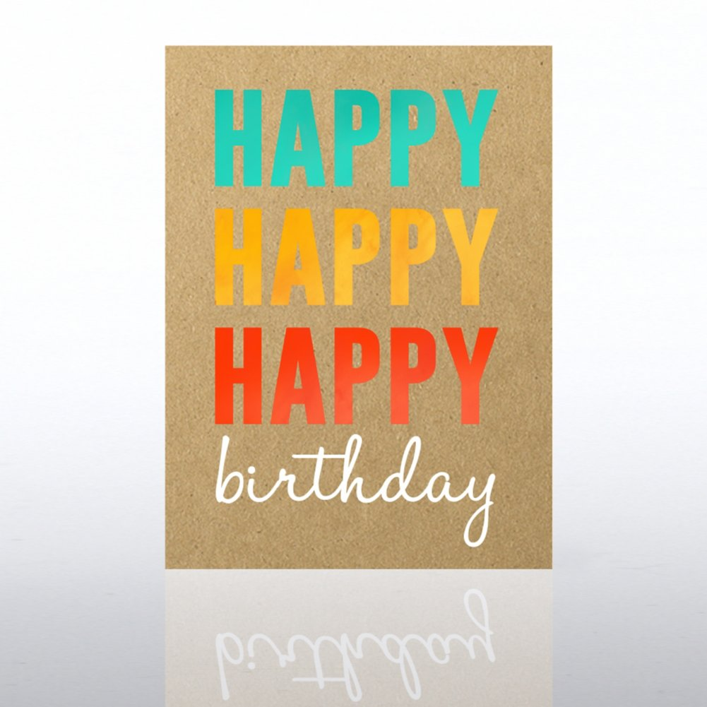 View larger image of Classic Celebrations Card - Happy Happy Happy Birthday