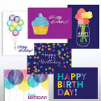 View larger image of Classic Celebrations - Birthday Watercolor Assortment