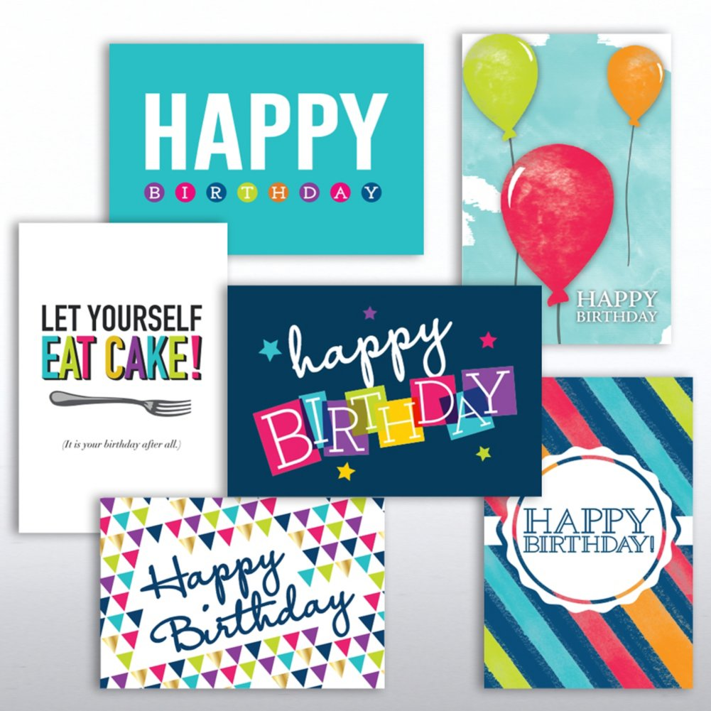 View larger image of Value Greeting Card Assortment - Birthday Spirit