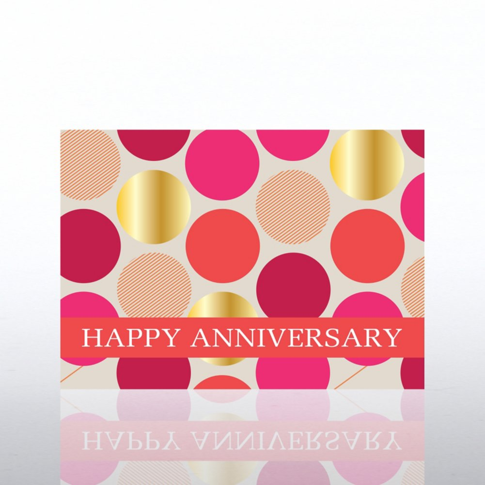 View larger image of Classic Celebrations - Anniversary Bravo - Foil Dots
