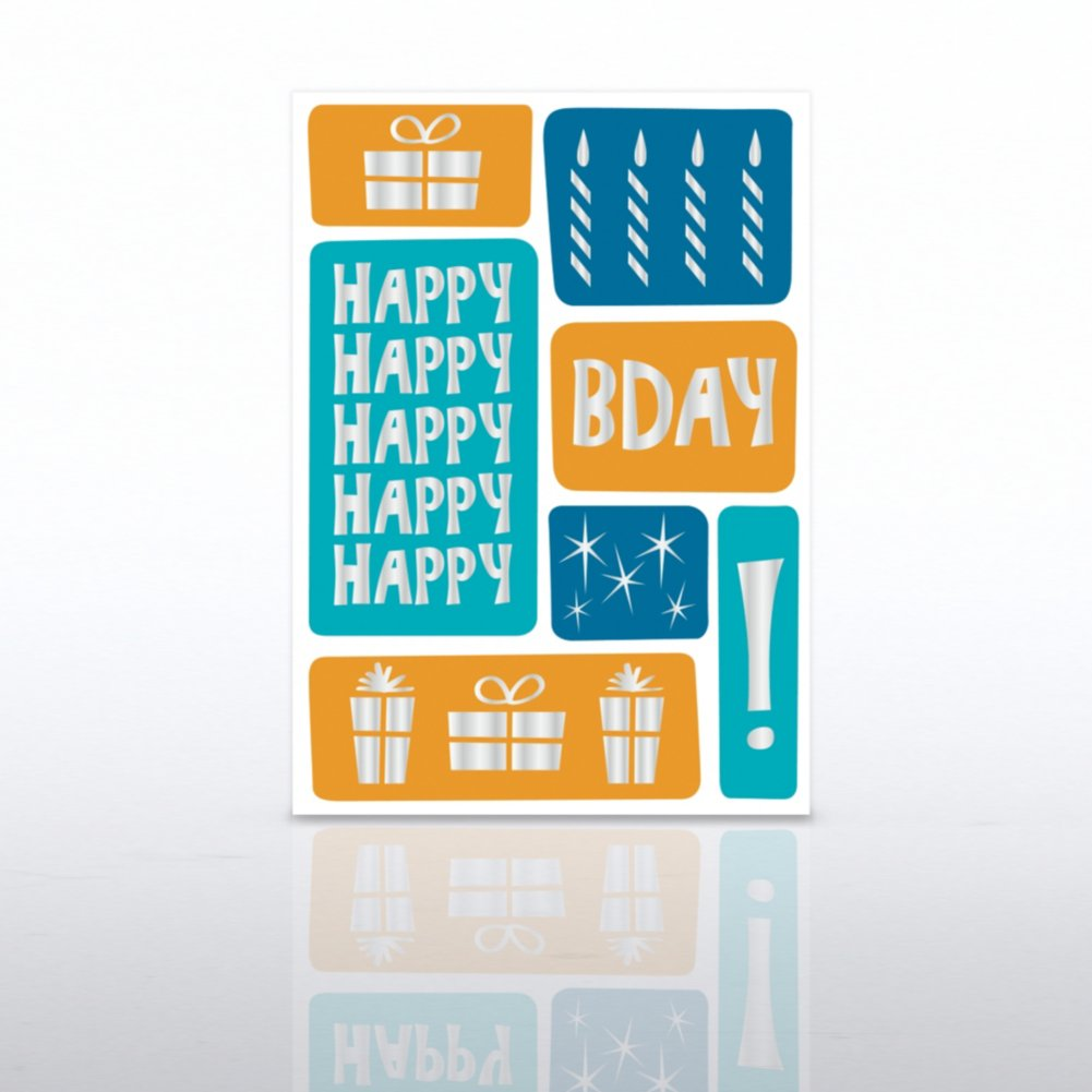 View larger image of Classic Celebrations - Happy Birthday Color Blocks