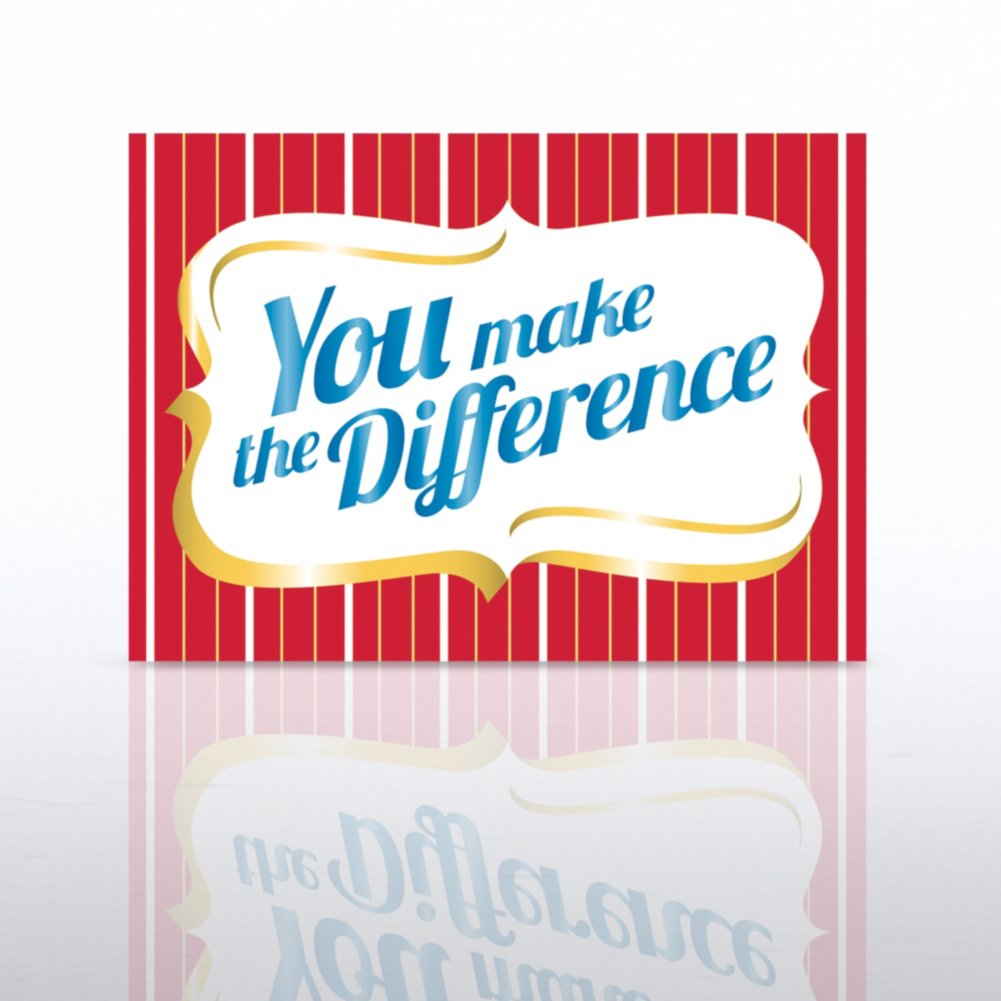 View larger image of Classic Celebrations - You Make the Difference Plaque
