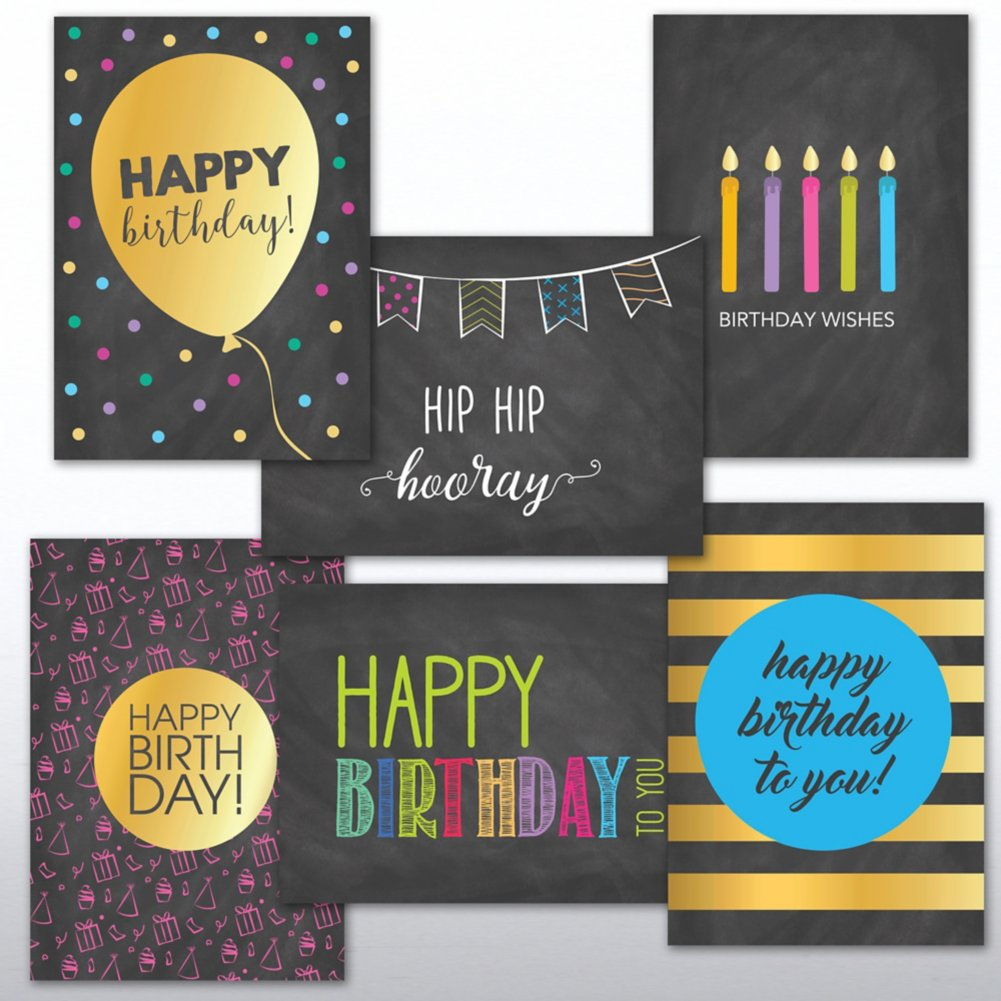View larger image of Classic Celebrations - Happy Birthday Chalkboard Assortment