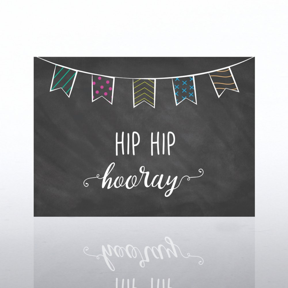 View larger image of Classic Celebrations Card - Hip Hip Hooray Banner