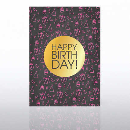 Classic Celebrations Card- Chalkboard: Happy Birthday Icons