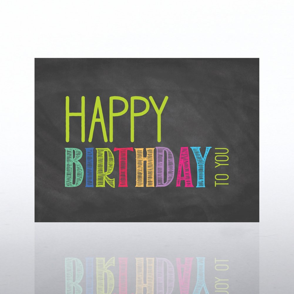 View larger image of Classic Celebrations Card- Chalkboard: Happy Birthday To You