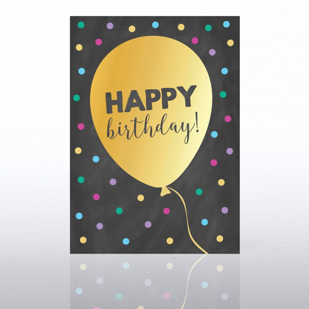 View larger image of Classic Celebrations Card -Chalkboard: Happy Birthday Ballon