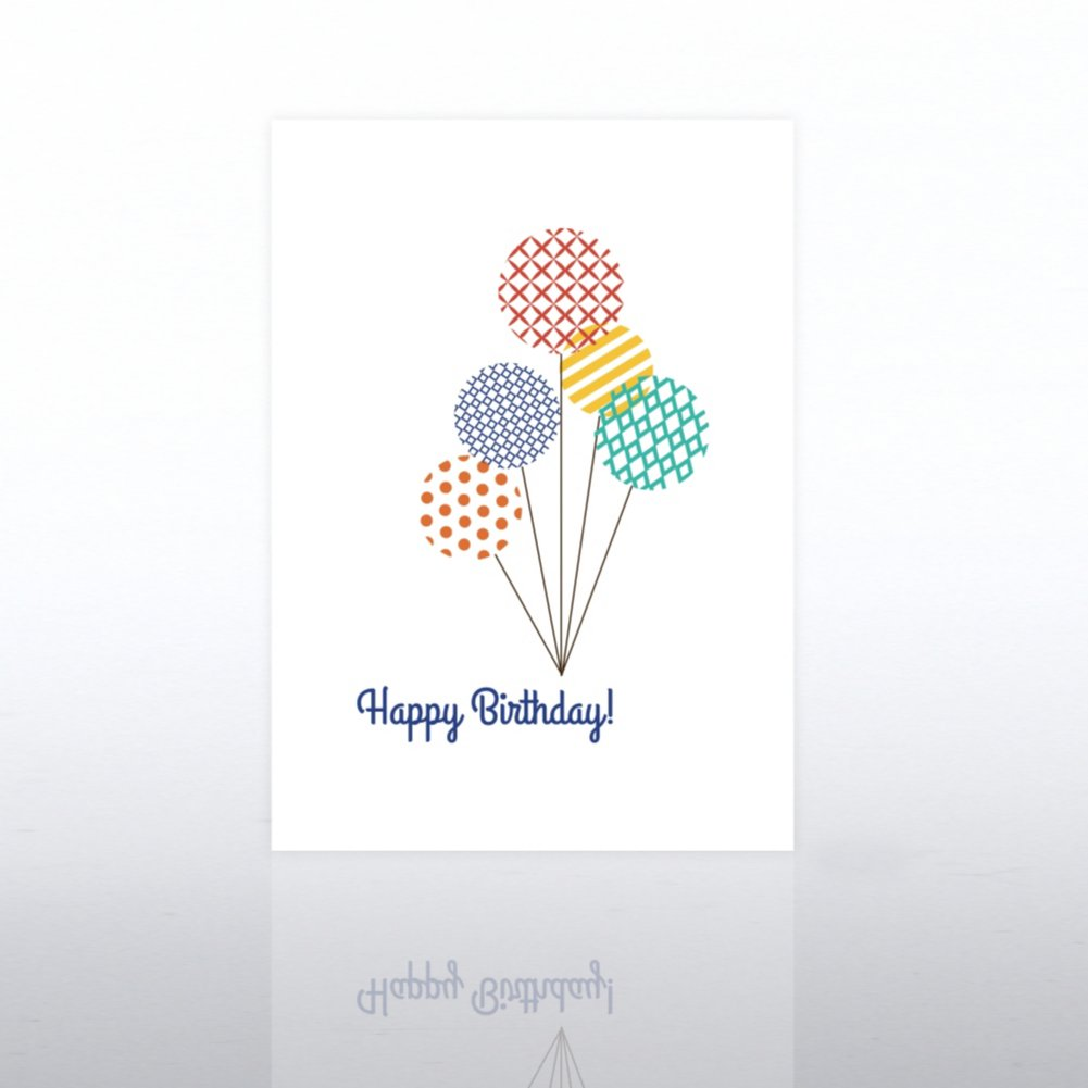 View larger image of Classic Celebrations - Happy Birthday - Pattern Balloons