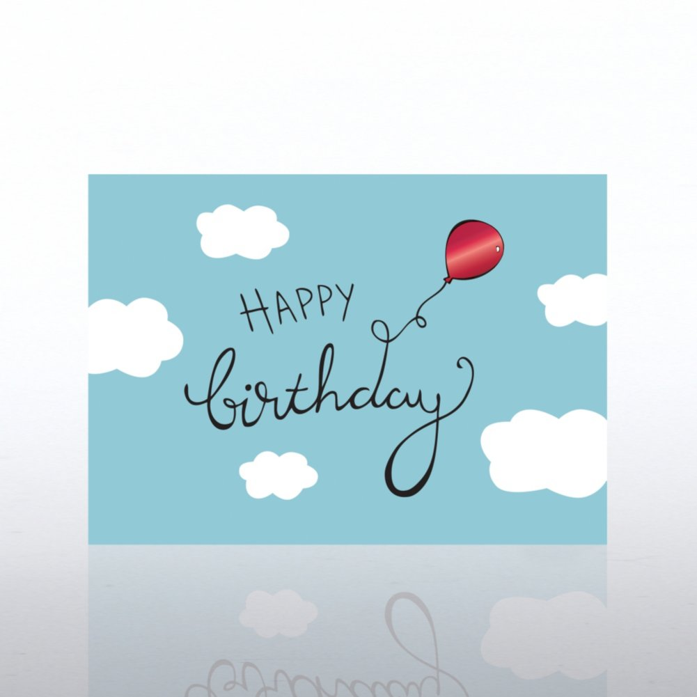 View larger image of Classic Celebrations - Happy Birthday Balloon in Clouds