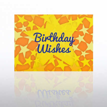 Classic Celebrations - Happy Birthday - Yellow Stars