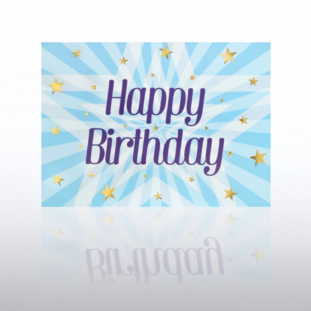 View larger image of Classic Celebrations - Happy Birthday - Stars Bursting