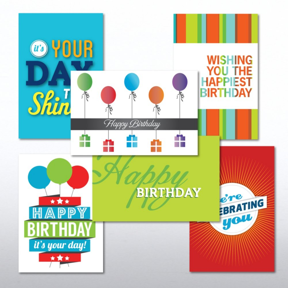 View larger image of Value Greeting Card Assortment - Happy Birthday - Celebrate