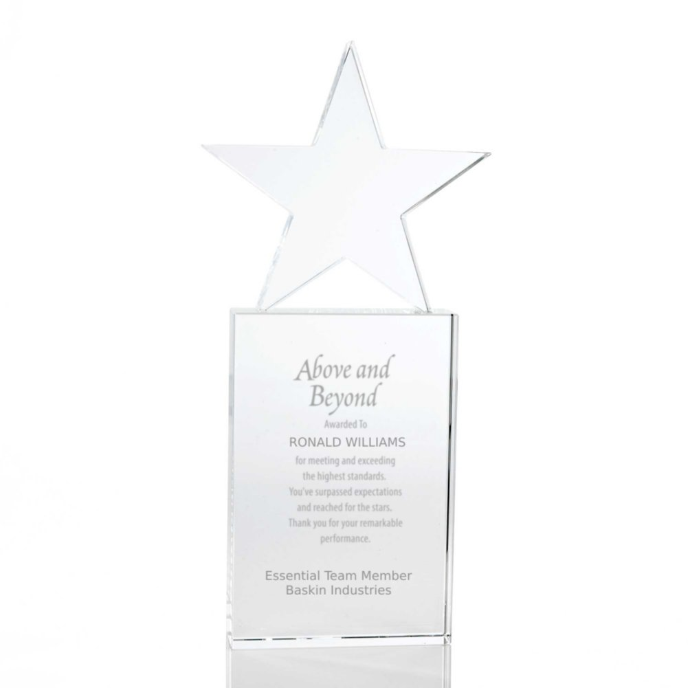 View larger image of Crystal Trophy - Star - Large