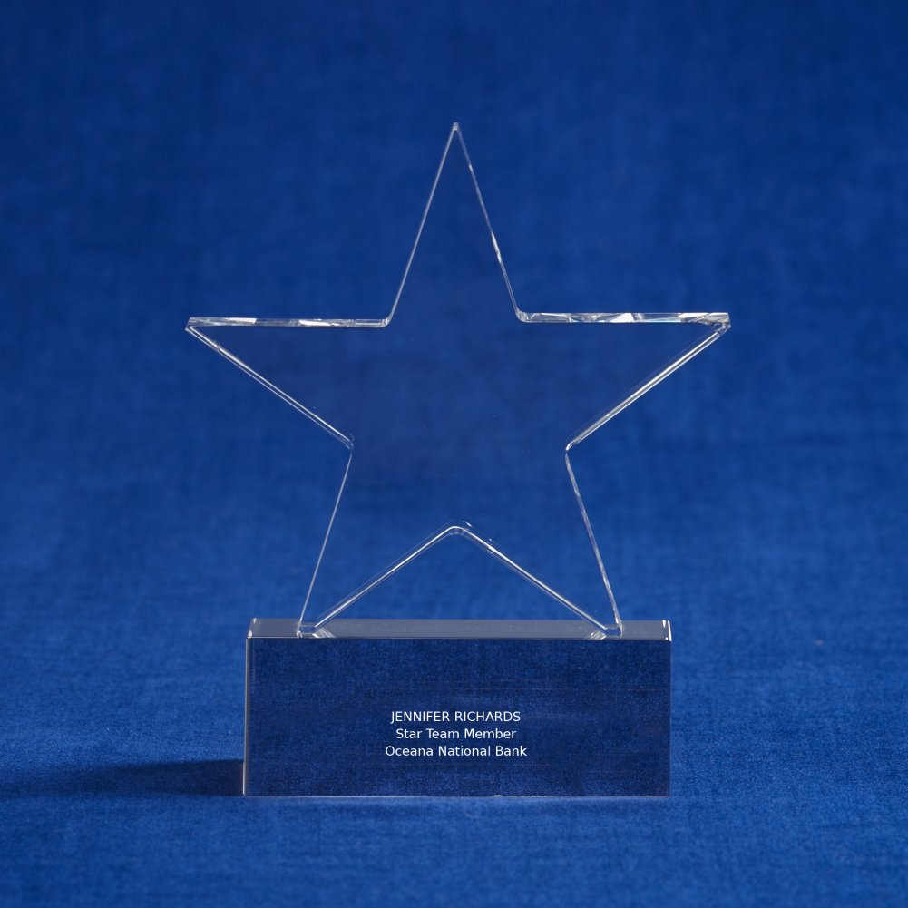 View larger image of Crystal Trophy - Star - Small