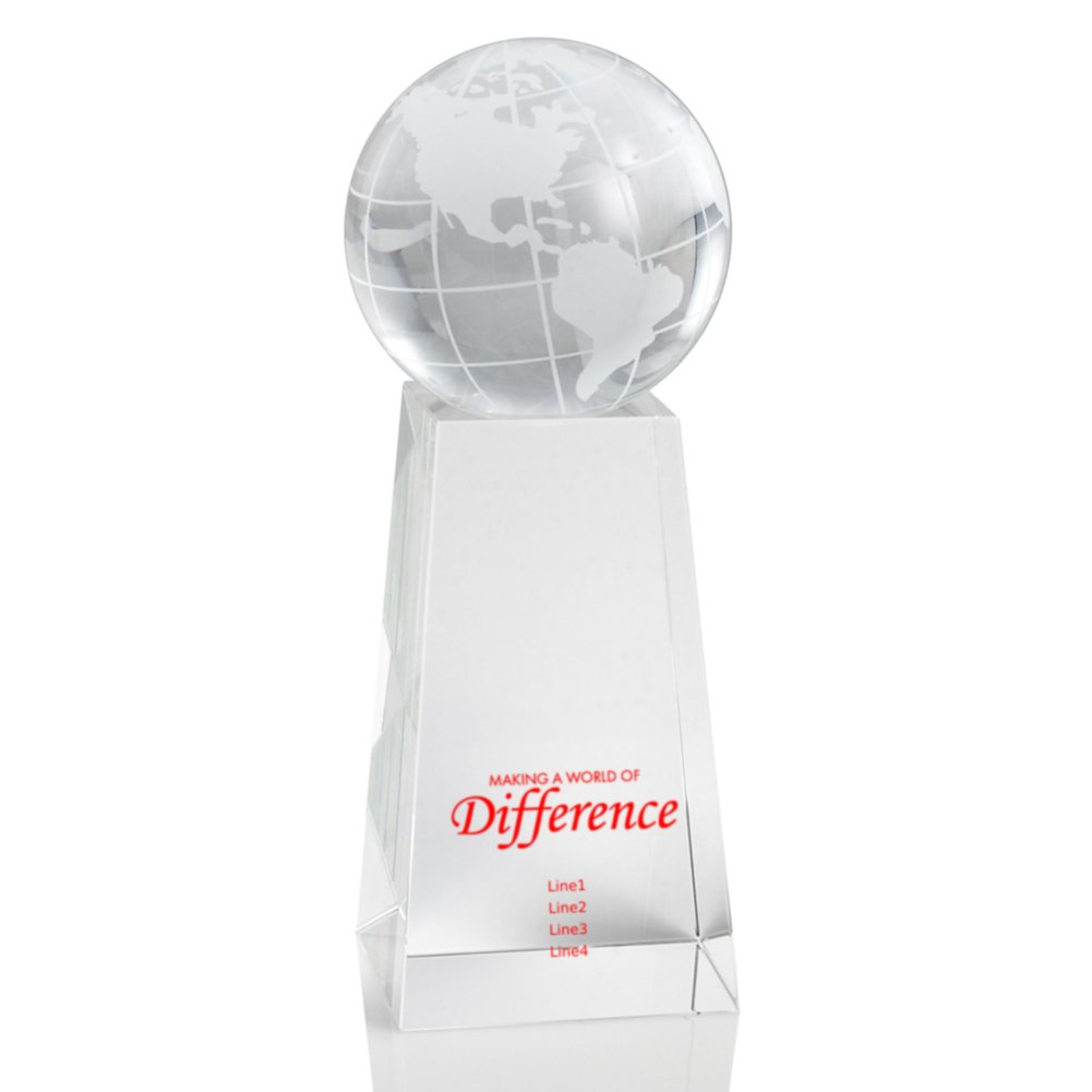 View larger image of Crystal Trophy - Globe Tower