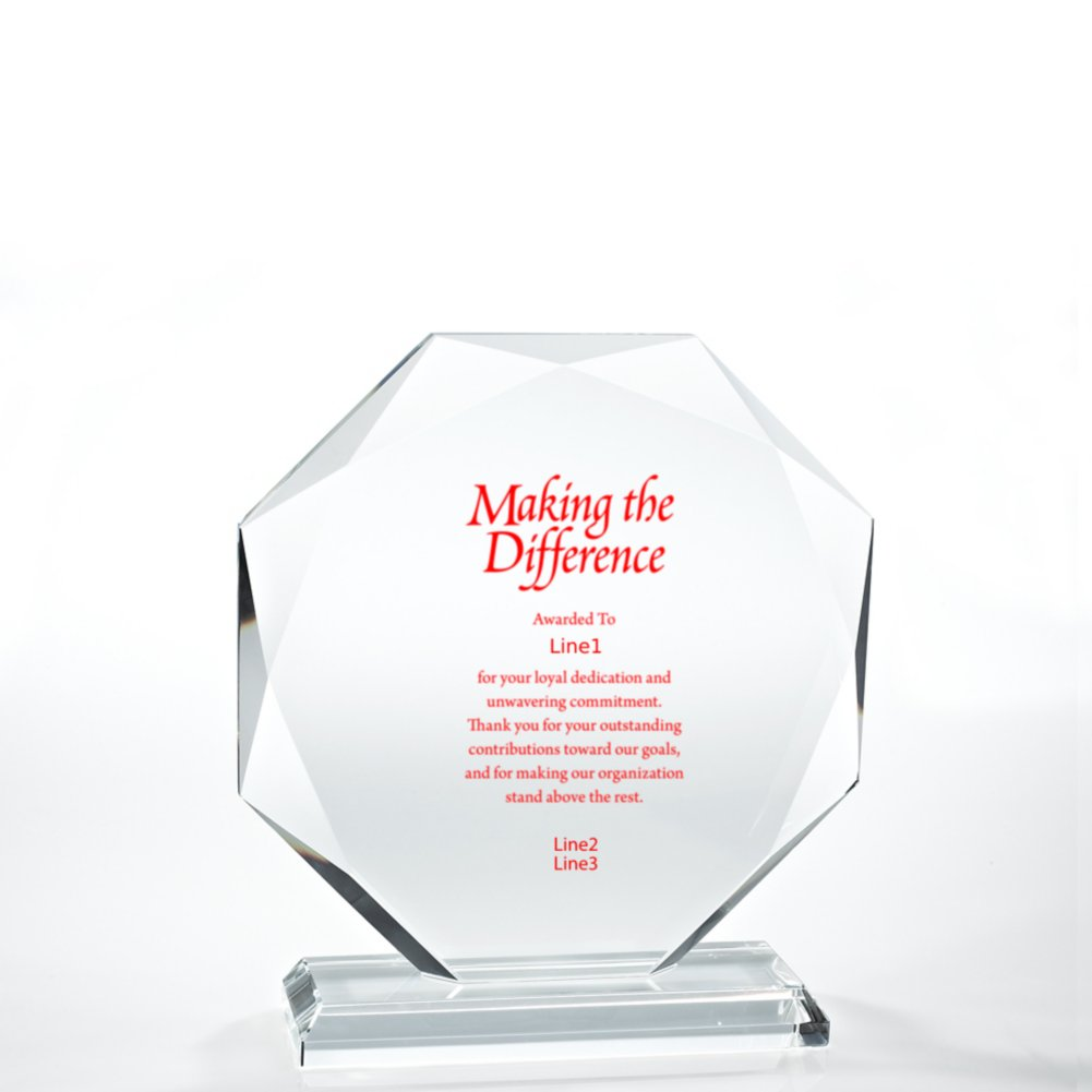 View larger image of Beveled Edge Crystal Trophy - Large Round