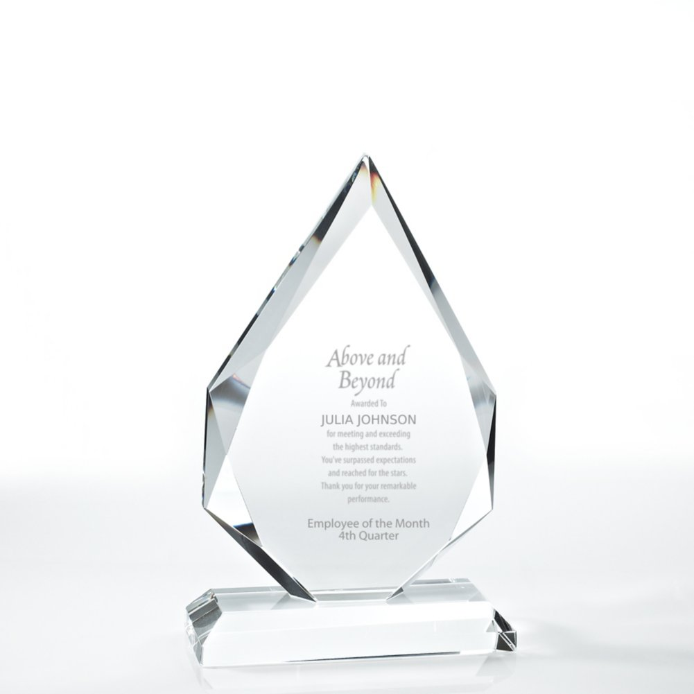 View larger image of Beveled Edge Crystal Flame Trophy - Diamond