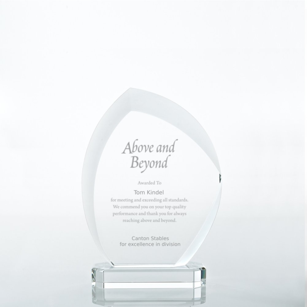 View larger image of Beveled Edge Crystal Flame Trophy - Slanted Oval