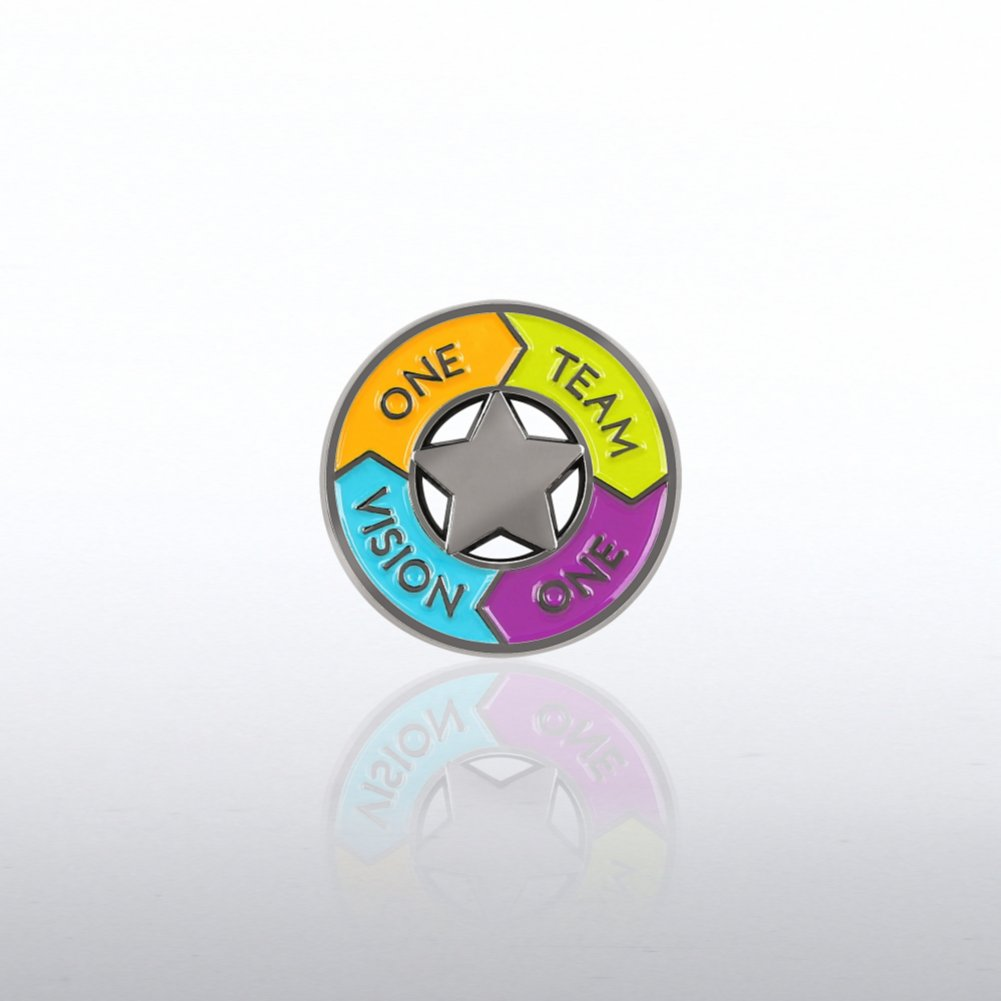 View larger image of Lapel Pin - One Team One Vision Circle