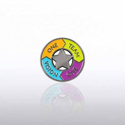 Lapel Pin - One Team One Vision Circle