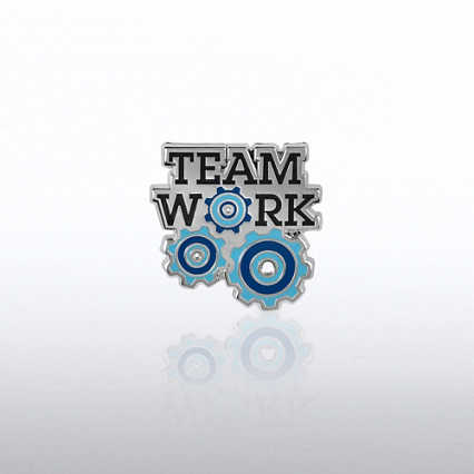 Lapel Pin - Teamwork Gears