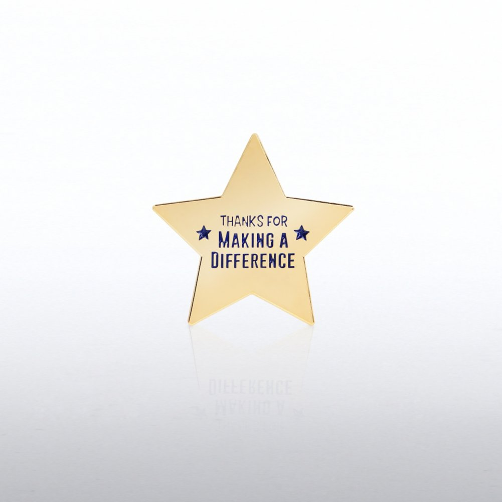 View larger image of Lapel Pin - Star: Thanks for Making a Difference